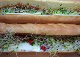 Pain viennois végétarien pour lunch box
